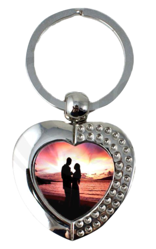 Sublimation Metal Keychain Heart